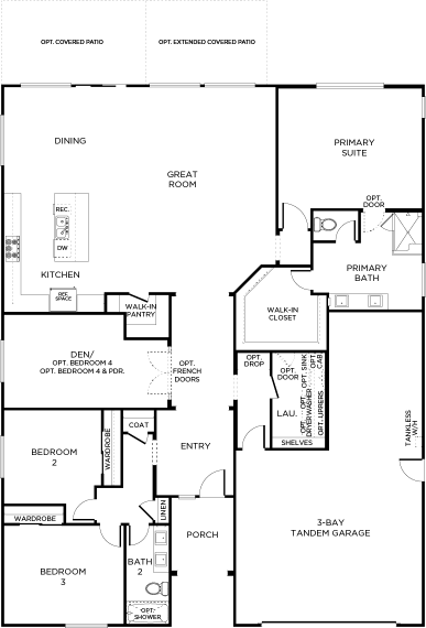 Compass Floor plan Residence Olive Single Floor
