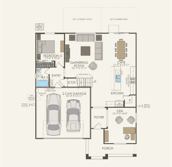 Majestic Floor plan Residence Visionary First Floor