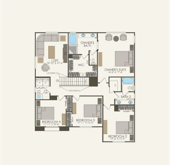 Majestic Floor plan Residence Visionary Second Floor